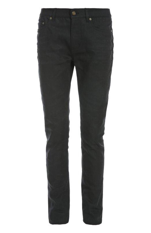 Зауженные джинсы с необработанным краем Saint Laurent 419849/Y869L
