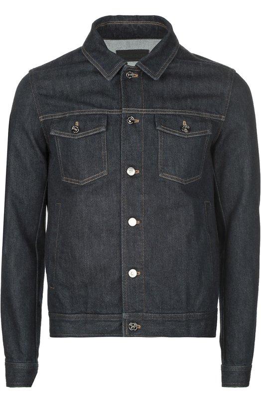 Джинсовая куртка с контрастной прострочкой Ermenegildo Zegna UIL020L01