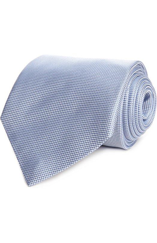 Галстук Ermenegildo ZegnaГалстуки<br>Голубой галстук сшит из жаккардового шелка с рельефным микроузором. Аксессуар вошел в весенне-летнюю коллекцию бренда, основанного Эрменеджильдо Зенья. Попробуйте сочетать с белой рубашкой и темным костюмом.<br><br>Пол: Мужской<br>Возраст: Взрослый<br>Размер производителя vendor: NS<br>Материал: Шелк: 100%;<br>Цвет: Голубой