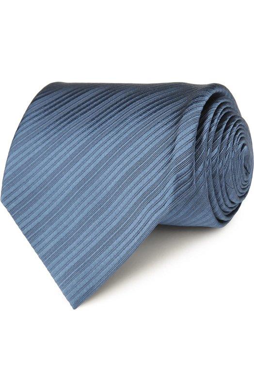Купить Шелковый фактурный галстук Tom Ford, 7TF42XTF, Италия, Серо-голубой, Шелк: 100%;