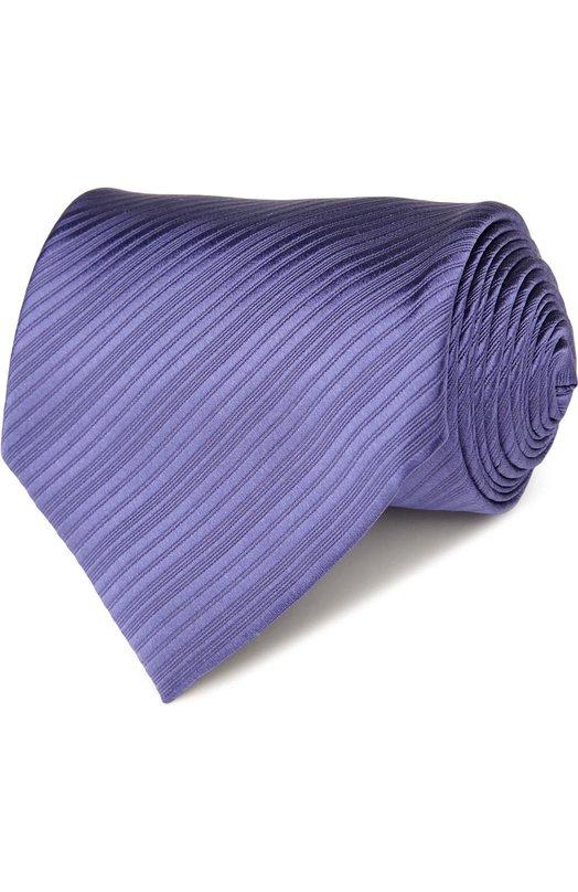 Купить Шелковый фактурный галстук Tom Ford, 7TF42XTF, Италия, Сиреневый, Шелк: 100%;