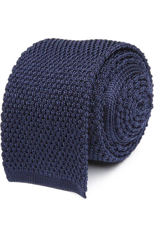 Вязаный галстук Tom FordГалстуки<br><br><br>Пол: Мужской<br>Возраст: Взрослый<br>Размер производителя vendor: NS<br>Материал: Шелк: 100%;<br>Цвет: Темно-синий