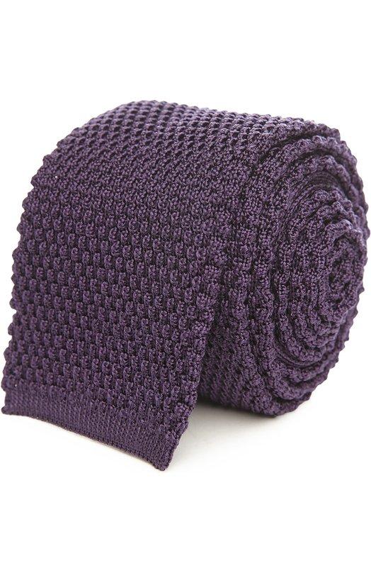 Купить Вязаный галстук Tom Ford, 7TF551MB, Италия, Темно-фиолетовый, Шелк: 100%;