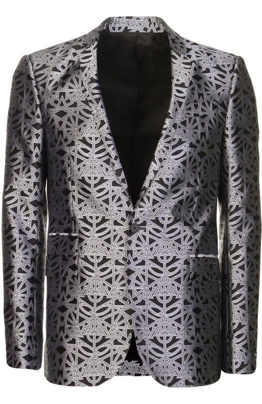 Костюм Les HommesКостюмы<br>В коллекцию сезона весна-лето 2016 года вошел костюм черного цвета с графическим серым принтом. Однобортный пиджак и зауженные брюки произведены мастерами марки из плотной ткани с добавлением волокон шелка.<br><br>Пол: Мужской<br>Возраст: Взрослый<br>Размер производителя vendor: 48<br>Материал: Полиэстер: 65%; Шелк: 35%; Подкладка-вискоза: 100%;<br>Цвет: Черный