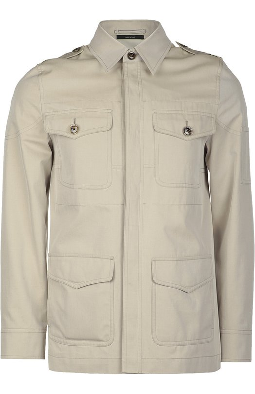 Хлопковая куртка-сафари на пуговицах Tom Ford BI068TF0394