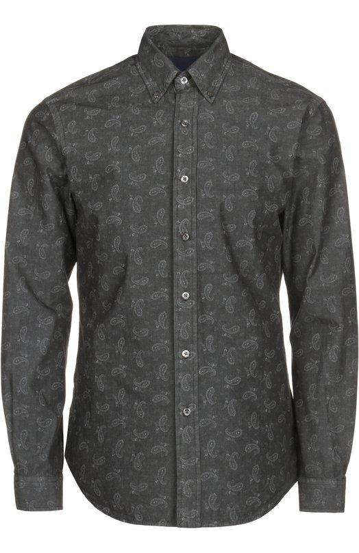 Полуприталенная рубашка с узором пейсли Polo Ralph Lauren A04/WAA04/C00AD