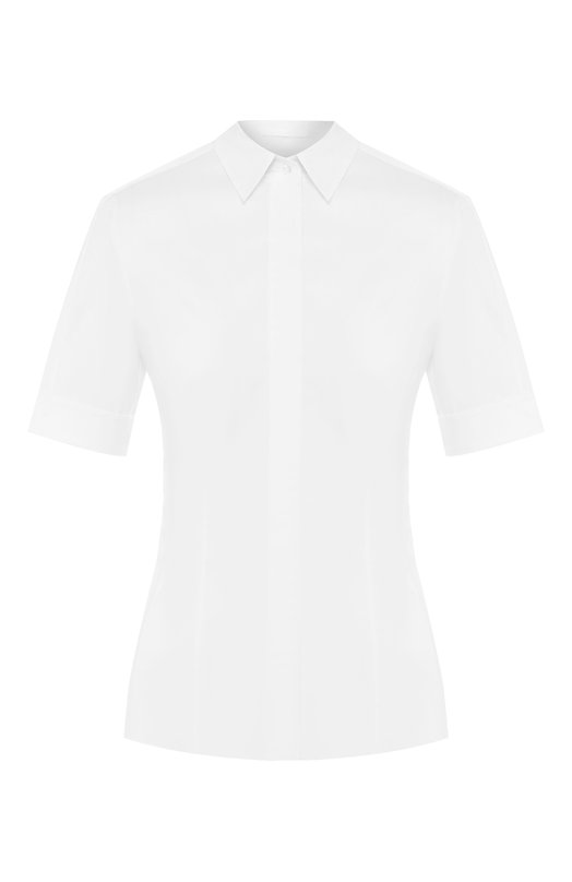 Блузка BOSSБлузы<br>В классическую коллекцию бренда, основанного Хуго Фердинандом Боссом, вошла приталенная белая блуза с отложным воротником. Короткие рукава дополнены широкими манжетами. Модель Bashini выполнена из тонкого эластичного хлопка.<br><br>Российский размер RU: 42<br>Пол: Женский<br>Возраст: Взрослый<br>Размер производителя vendor: 36<br>Цвет: Белый