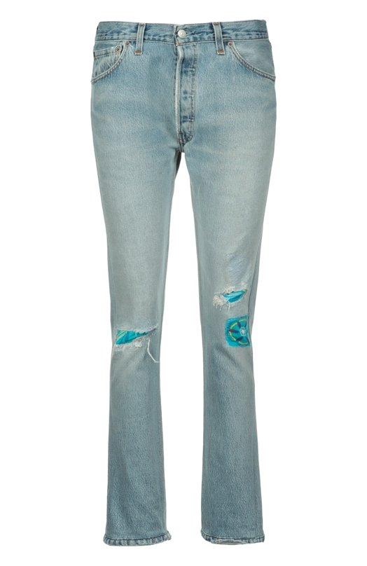 Джинсы Re/DoneДжинсы<br>В весенне-летнюю коллекцию 2016 года вошла модель slim fit. Мастер марки сшили джинсы из мягкого хлопка голубого цвета. Лицевая сторона дополнена декоративными потертостями и яркими заплатками с разноцветным принтом.<br><br>Российский размер RU: 42<br>Пол: Женский<br>Возраст: Взрослый<br>Размер производителя vendor: 26<br>Материал: Хлопок: 100%;<br>Цвет: Синий