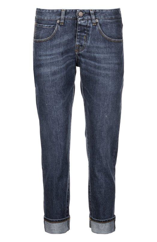 Джинсы Two Women In The WorldДжинсы<br>В коллекцию сезона весна-лето 2016 года  вошли укороченные джинсы boyfriend с широкими отворотами и заниженной посадкой. При производстве модели Manuх был использован эластичный хлопок темно-синего цвета.<br><br>Российский размер RU: 40<br>Пол: Женский<br>Возраст: Взрослый<br>Размер производителя vendor: 25<br>Материал: Хлопок: 99%; Эластан: 1%;<br>Цвет: Темно-синий