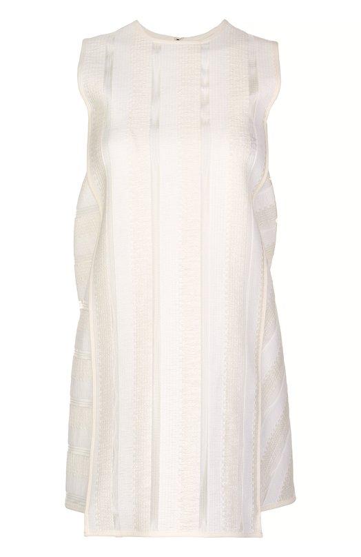 Платье MSGMПлатья<br>Массимо Джорджетти включил в коллекцию сезона весна-лето 2016 года белое мини-платье с круглым вырезом, без рукавов. Модель на подкладке выполнена мастерами марки из тонкого полупрозрачного текстиля в вертикальную полоску, широкие боковые вставки — в горизонтальную. Изделие застегивается сзади на молнию.<br><br>Российский размер RU: 44<br>Пол: Женский<br>Возраст: Взрослый<br>Размер производителя vendor: 42<br>Материал: Полиамид: 67%; Хлопок: 33%; Подкладка-полиэстер: 100%;<br>Цвет: Белый
