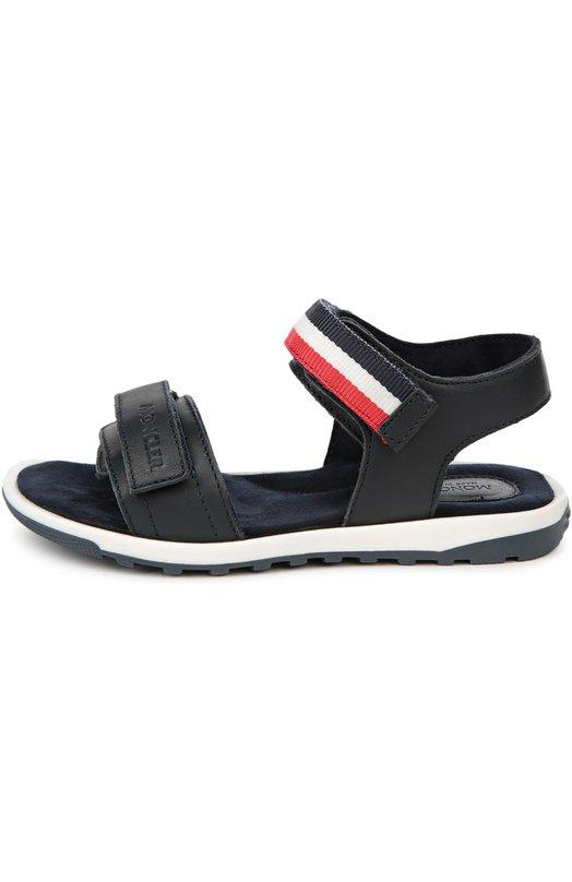 Кожаные сандалии с двойной застежкой велькро Moncler Enfant B1-954-00421-00-07962