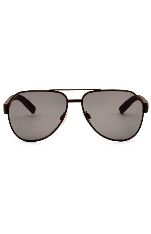 Солнцезащитные очки Dolce &amp; GabbanaОчки<br>Солнцезащитные очки дополнены коричневыми стеклами. Для производства оправы с двойным мостом использован легкий металл черного цвета. Широкие дужки из непрозрачного прочного пластика украшены выгравированным логотипом бренда, основанного Доменико Дольче и Стефано Габбана.<br><br>Пол: Мужской<br>Возраст: Взрослый<br>Размер производителя vendor: NS<br>Цвет: Бесцветный