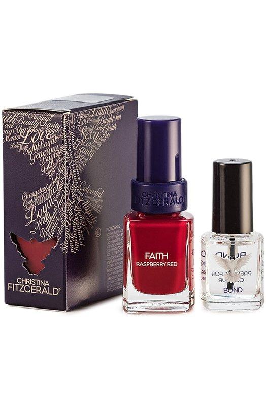 Лак для ногтей Faith Ягода малина и Bond-подготовка Christina FitzgeraldЛаки для ногтей<br><br><br>Объем мл: 12<br>Пол: Женский<br>Возраст: Взрослый<br>Цвет: Бесцветный