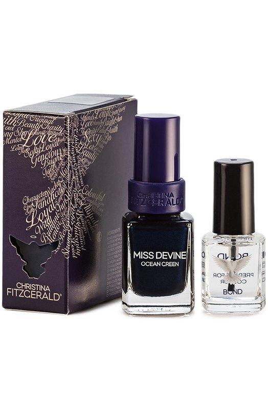 Лак для ногтей Miss Devine Изумрудный океан и Bond-подготовка Christina Fitzgerald 9333381001429