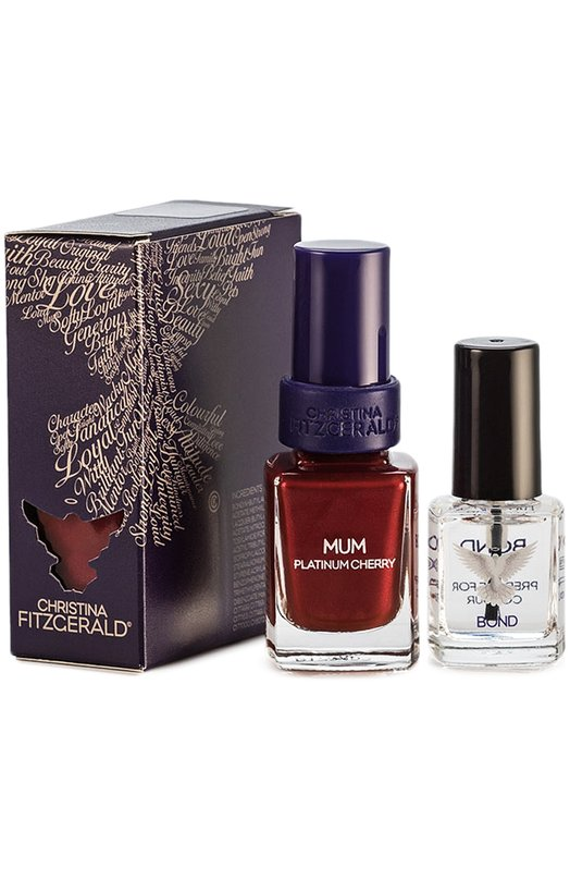 Лак для ногтей Mum Зимняя вишня и Bond-подготовка Christina Fitzgerald 9333381001467