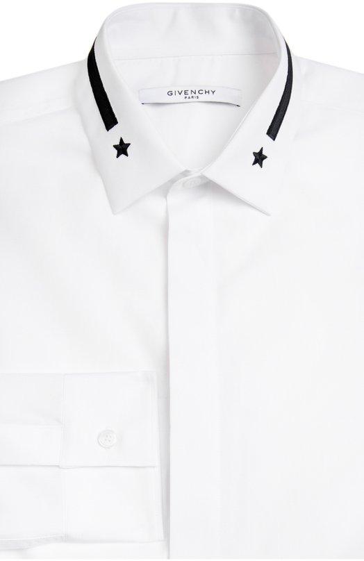 Сорочка с вышивкой на воротнике Givenchy 16S/6001/300