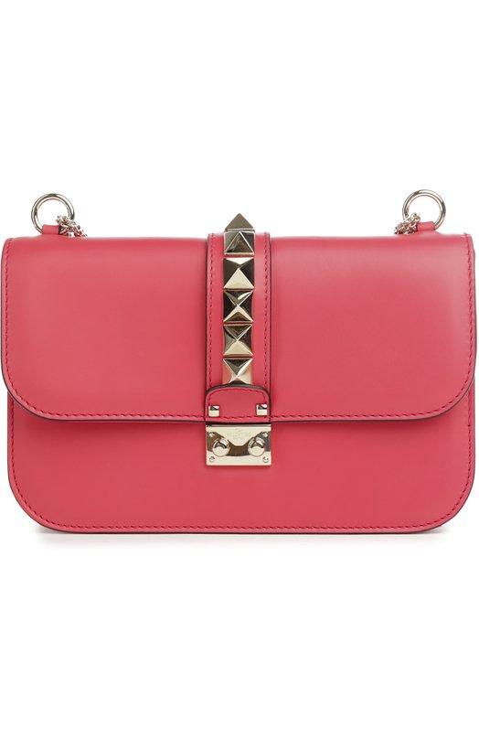 Сумка Glam Lock medium на цепочке Valentino, KW2B0398/VIT, Италия, Розовый, Кожа натуральная: 100%;  - купить