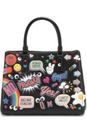 Сумка-тоут All Over Sticker Anya Hindmarch черная | Фото №1