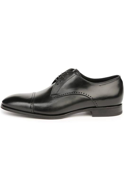 Туфли W.GibbsТуфли<br>Черные туфли из весенне-летней коллекции 2016 года выполнены мастерами марки вручную из гладкой кожи с легким матовым блеском. Модель с зауженным мысом и открытым типом шнуровки дополнена редкой перфорацией.<br><br>Российский размер RU: 43<br>Пол: Мужской<br>Возраст: Взрослый<br>Размер производителя vendor: 43-5<br>Материал: Кожа натуральная: 100%; Стелька-кожа: 100%; Подошва-кожа: 100%;<br>Цвет: Черный