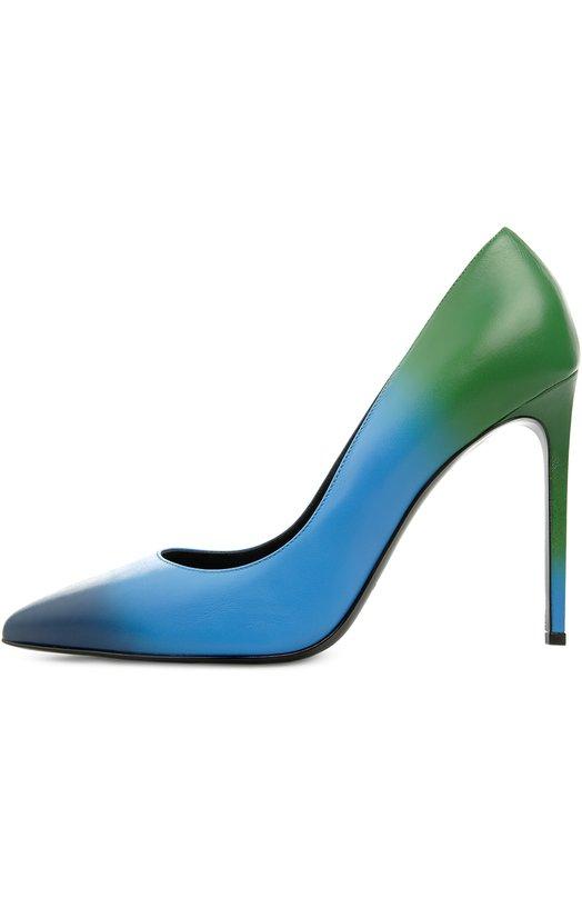 Кожаные туфли Paris Skinny с эффектом деграде Saint Laurent 375366/DH200