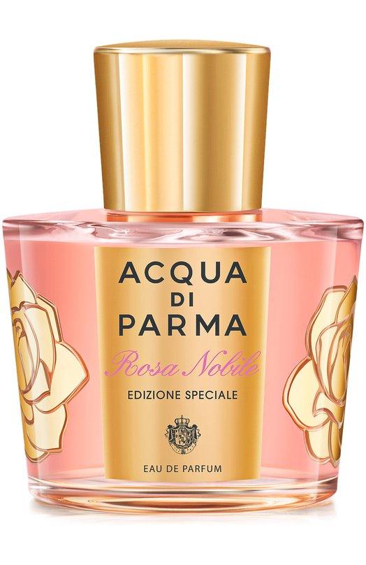 Парфюмерная вода Rosa Nobile Acqua di ParmaАроматы для женщин<br><br><br>Объем мл: 100<br>Пол: Женский<br>Возраст: Взрослый<br>Цвет: Бесцветный
