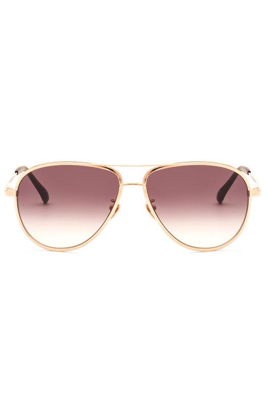 Очки солнцезащитные Frency&amp;MercuryОчки<br>Солнцезащитные очки Corona изготовлены из ультратонкого и легкого титана золотого цвета. Дизайнеры бренда дополнили авиаторы с серыми градиентными линзами темными заушниками из полированного ацетата.<br><br>Пол: Женский<br>Возраст: Взрослый<br>Размер производителя vendor: NS<br>Цвет: Золотой
