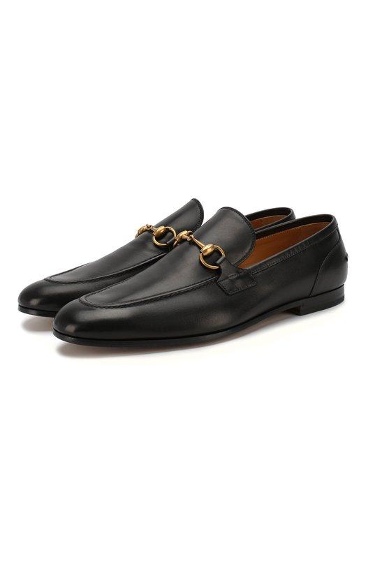 Лоферы GucciЛоферы<br>Лоферы черного цвета, сшитые вручную, вошли в весенне-летнюю коллекцию бренда, основанного Гуччио Гуччи. Для создания модели на невысоком квадратном каблуке мастера марки использовали матовую гладкую кожу. Обувь украшена пряжкой из полированного металла.<br><br>Российский размер RU: 42<br>Пол: Мужской<br>Возраст: Взрослый<br>Размер производителя vendor: 8<br>Материал: Кожа натуральная: 100%; Стелька-кожа: 100%; Подошва-кожа: 100%;<br>Цвет: Черный