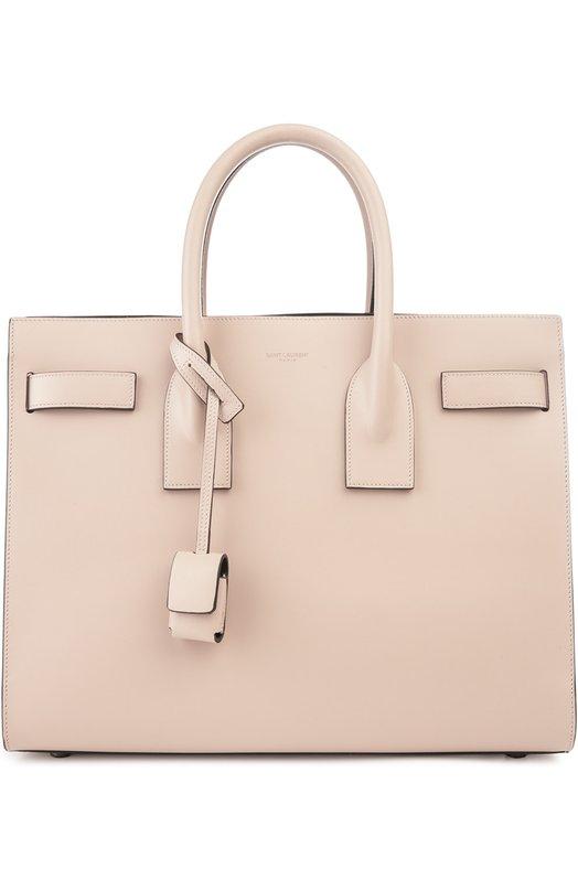 Купить Сумка Sac De Jour Small Saint Laurent, 378299/BX66V, Италия, Светло-розовый, Кожа натуральная: 100%;