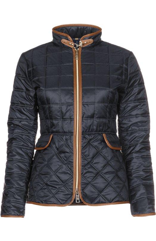 Куртка FayКуртки<br>В весенне-летнюю коллекцию 2016 года вошла темно-синяя стеганая куртка с двумя карманами и воротником-стойкой, дополненным застежкой-карабином. Приталенная модель из непромокаемого нейлона отделана коричневым кожаным кантом. Попробуйте сочетать с белым топом, бежевыми брюками и слипонами.<br><br>Российский размер RU: 54<br>Пол: Женский<br>Возраст: Взрослый<br>Размер производителя vendor: XXL<br>Материал: Полиамид: 100%; Подкладка-полиамид: 100%;<br>Цвет: Темно-синий