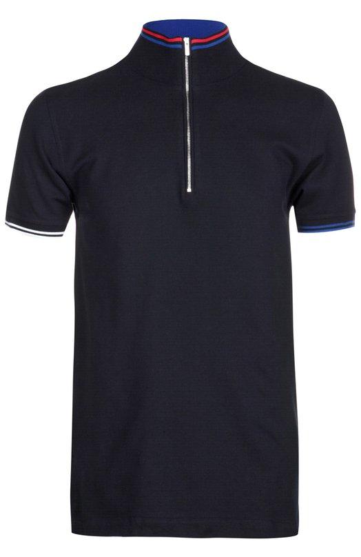 Поло джерси KitonПоло<br>Поло из мягкого хлопка пике темно-синего цвета вошло в весенне-летнюю коллекцию 2016 года. Модель, декорированная контрастными полосками по краю манжет и воротника-стойки, застегивается на короткую молнию. Наши стилисты рекомендуют носить со светлыми чиносами и белыми кедами.<br><br>Российский размер RU: 50<br>Пол: Мужской<br>Возраст: Взрослый<br>Размер производителя vendor: L<br>Материал: Хлопок: 100%;<br>Цвет: Темно-синий
