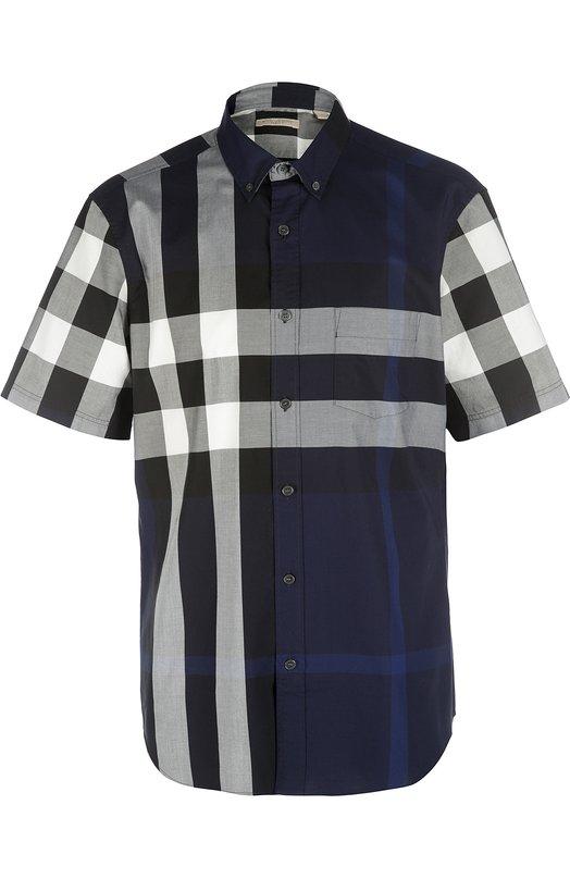 Рубашка Burberry BritРубашки<br><br><br>Российский размер RU: 48<br>Пол: Мужской<br>Возраст: Взрослый<br>Размер производителя vendor: M<br>Материал: Хлопок: 100%;<br>Цвет: Темно-синий