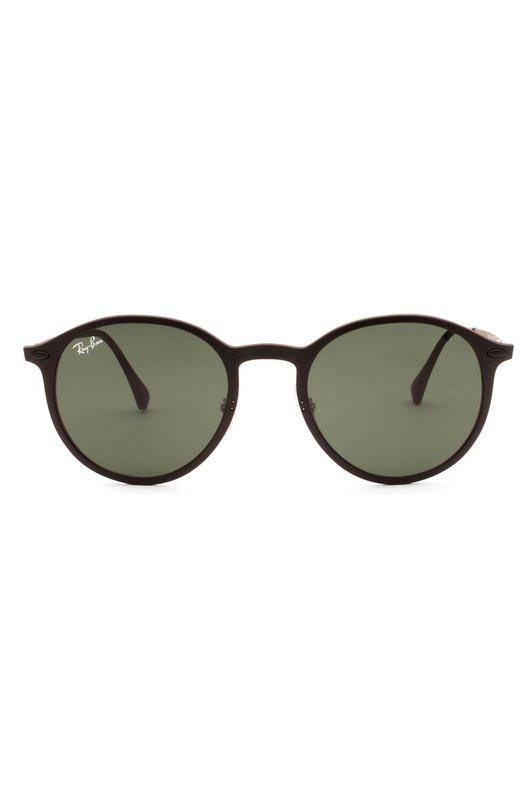 Солнцезащитные очки Ray-BanОчки<br>Солнцезащитные очки в матовой титановой оправе круглой формы дополнены зелеными ультратонкими линзами, обеспечивающими 100% защиты глаз от УФ-лучей. Металлические дужки с безвинтовыми шарнирами Light Ray и пластиковыми заушниками украшены гравировкой в форме логотипа бренда.<br><br>Пол: Женский<br>Возраст: Взрослый<br>Размер производителя vendor: NS<br>Цвет: Зеленый
