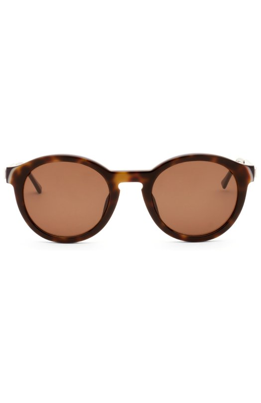 Солнцезащитные очки Thierry LasryОчки<br>Солнцезащитные очки Zomby изготовлены мастерами бренда, основанного Тьери Ласри, вручную из прочного ацетата черепаховой расцветки. Модель с металлическими дужками и пластиковыми заушниками дополнена тонированными линзами с максимальной степенью защиты от УФ-лучей.<br><br>Пол: Женский<br>Возраст: Взрослый<br>Размер производителя vendor: NS<br>Цвет: Коричневый