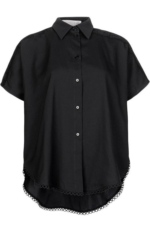 Блуза прямого кроя с перфорацией Stella McCartney 410802/SGA08