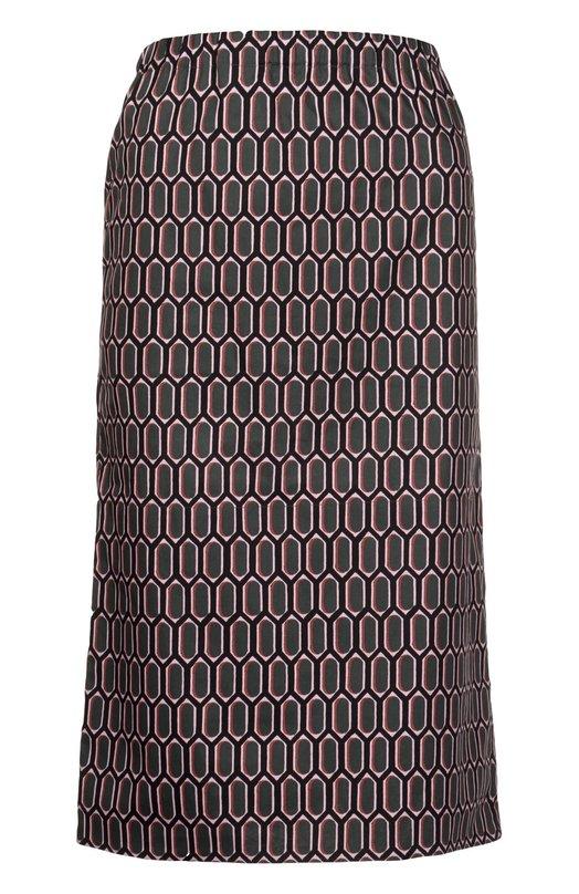 Хлопковая юбка миди с контрастным принтом MarniЮбки<br>Миди-юбка сшита мастерами марки из мягкого хлопка с контрастным геометрическим принтом. Консуэло Кастильони включила модель в коллекцию сезона весна-лето 2016 года. Наши стилисты рекомендуют носить с зеленой блузой, розовым пальто и черными босоножками.<br><br>Российский размер RU: 44<br>Пол: Женский<br>Возраст: Взрослый<br>Размер производителя vendor: 42<br>Материал: Хлопок: 100%;<br>Цвет: Розовый