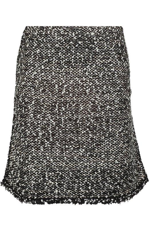 Буклированная мини-юбка с бахромой Balenciaga 417434/T7120