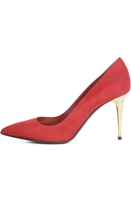 Замшевые туфли Metal Heel на шпильке Tom FordТуфли<br><br><br>Российский размер RU: 38<br>Пол: Женский<br>Возраст: Взрослый<br>Размер производителя vendor: 38-5<br>Материал: Стелька-кожа: 100%; Подошва-кожа: 100%; Замша натуральная: 100%;<br>Цвет: Красный