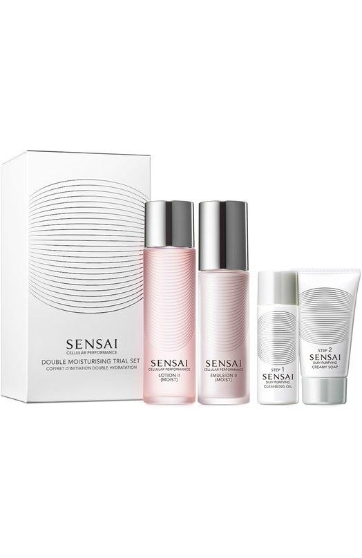 Дорожный набор (Лосьон 2, Эмульсия 2, Очищающее масло, Кремовое мыло) Sensai 95420