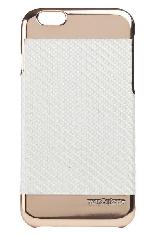 Чехол для iPhone 6/6s MoncarboneЧехлы для iPhone<br>Мастера марки декорировали чехол из плетеного легкого и ультратонкого композитного углеволокна вставками из хрома цвета розового золота. Аксессуар для iPhone 6/6s вошел в коллекцию сезона весна-лето 2016 года.<br><br>Пол: Женский<br>Возраст: Взрослый<br>Размер производителя vendor: NS<br>Материал: Карбон: 100%;<br>Цвет: Черный