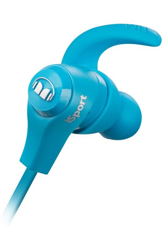 Вставные наушники iSport Bluetooth MonsterАудио<br><br><br>Пол: Женский<br>Возраст: Взрослый<br>Размер производителя vendor: NS<br>Цвет: Голубой