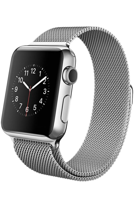 Apple Watch 42mm Silver Stainless Steel Case with Milanese Loop