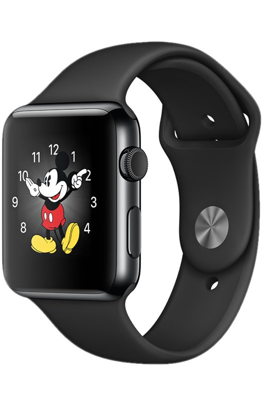 Apple Watch 42mm Space Black Stainless Steel Case with Sport Band