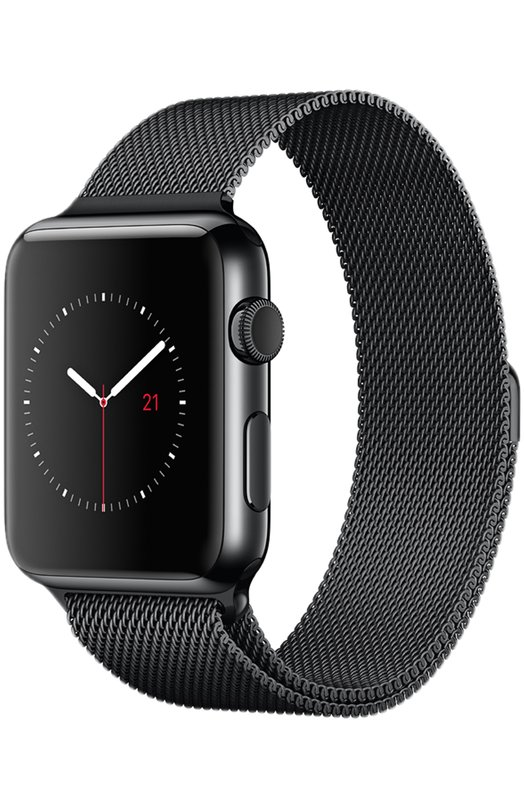 Apple Watch 42mm Space Black Stainless Steel Case with Milanese Loop
