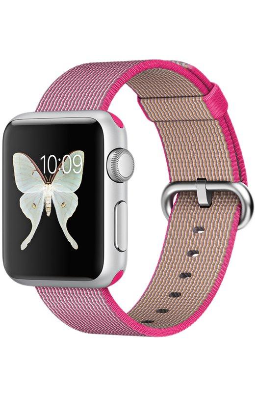 Apple Watch Sport 38mm Silver Aluminum Case AppleApple Watch<br><br><br>Пол: Женский<br>Возраст: Взрослый<br>Размер производителя vendor: S/M/L<br>Цвет: Фуксия