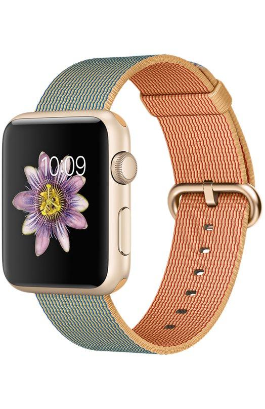 Apple Watch Sport 42mm Gold Aluminum Case AppleApple Watch<br><br><br>Пол: Женский<br>Возраст: Взрослый<br>Размер производителя vendor: S/M/L<br>Цвет: Голубой