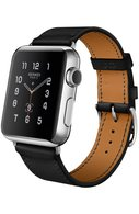 Apple Watch 38mm Stainless Steel Case Hermes Single Tour Leather Band Apple #color# | Фото №1