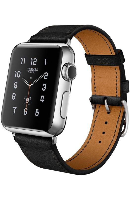 Apple Watch 38mm Stainless Steel Case Hermes Single Tour Leather Band AppleApple Watch<br><br><br>Пол: Женский<br>Возраст: Взрослый<br>Размер производителя vendor: S/M<br>Цвет: Черный
