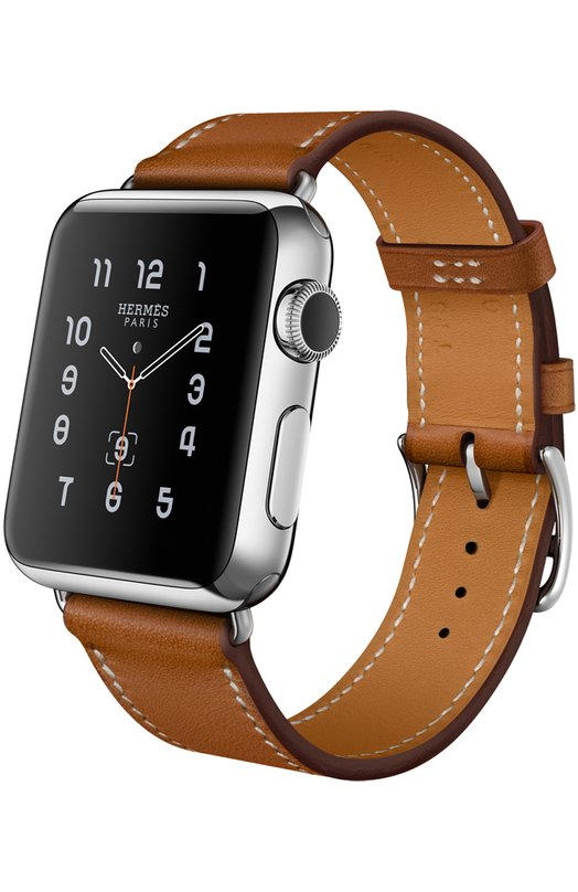 Apple Watch 38mm Stainless Steel Case Hermes Single Tour Leather Band