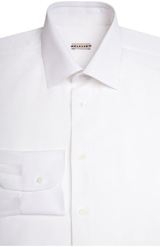 Сорочка CarusoРубашки<br>Белая рубашка с длинными рукавами и воротником кент вошла в весенне-летнюю коллекцию бренда, основанного Раффаэле Карузо. Модель из тонкого хлопка поплина застегивается на перламутровые пуговицы в тон.<br><br>Российский размер RU: 50<br>Пол: Мужской<br>Возраст: Взрослый<br>Размер производителя vendor: 41<br>Материал: Хлопок: 100%;<br>Цвет: Белый