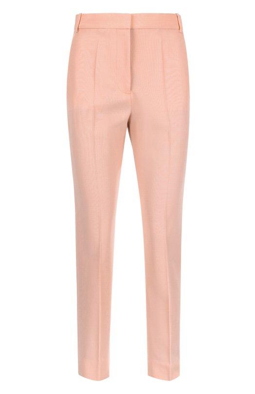 Брюки Stella McCartneyБрюки<br>Укороченные зауженные брюки Anna со стрелками вошли в коллекцию сезона весна-лето 2016 года. Стелла Маккартни выбрала для изготовления модели с двумя боковыми и двумя задними карманами тонкую шерсть розового цвета. Предлагаем сочетать с белой блузой, пиджаком в тон и светлыми босоножками.<br><br>Российский размер RU: 40<br>Пол: Женский<br>Возраст: Взрослый<br>Размер производителя vendor: 38<br>Материал: Шерсть: 100%;<br>Цвет: Розовый
